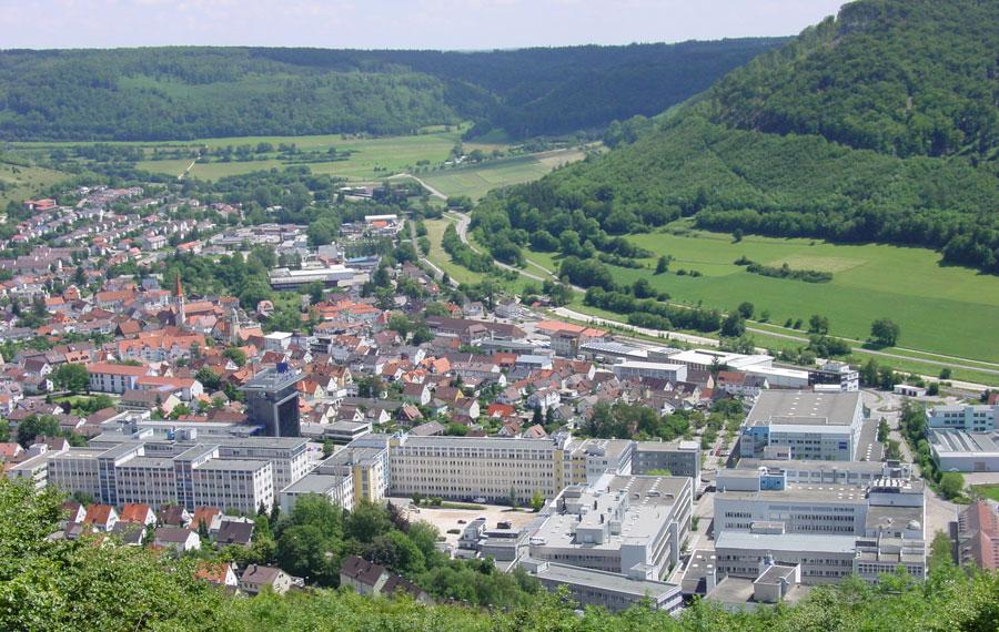 Luftbild vom Standort Oberkochen