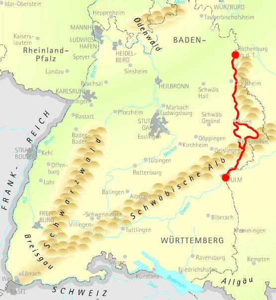 Radkarte Landesradweg Hohenlohe