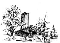 Logo Hütte Strichzeichnung