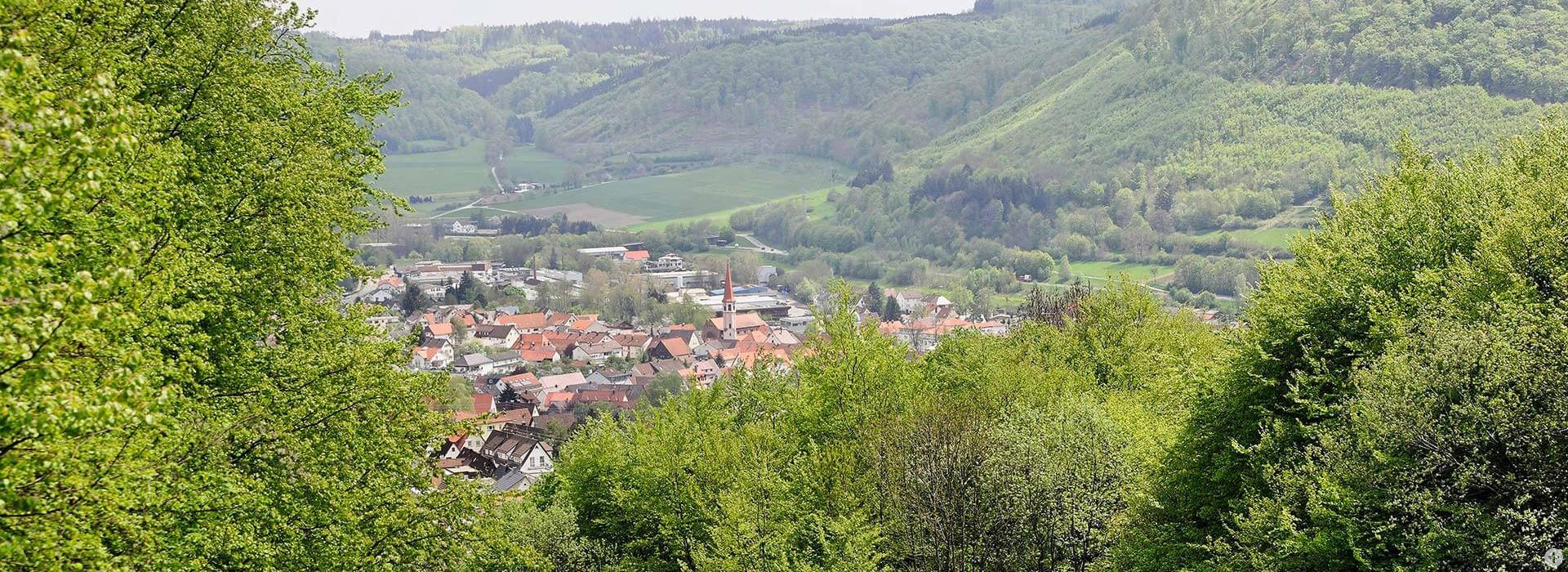 Blick auf die Stadt Oberkochen