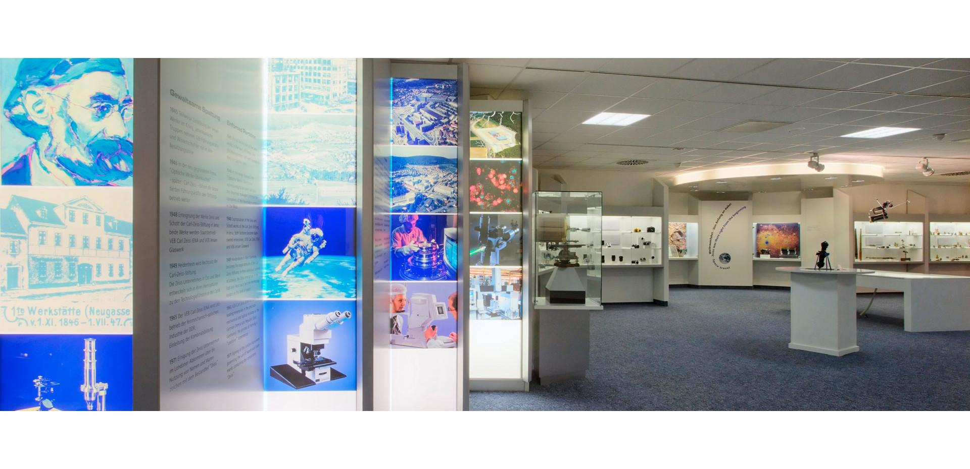 Im Zeiss-Museum der Optik kann man 170 Jahre Innovationsgeschichte im Bereich der Optik erleben