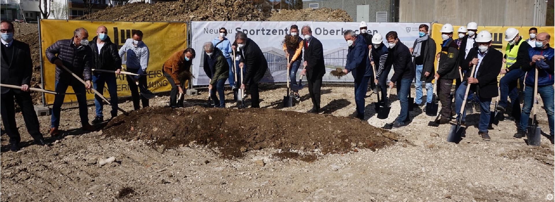 Sportzentrum Schwörz Spatenstich April 2021